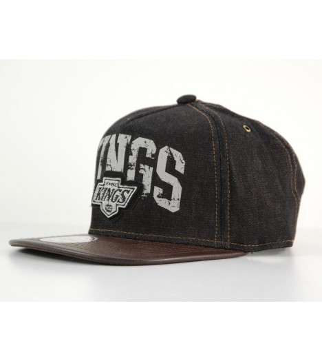 Casquette Mitchell & Ness Strapback Los Angeles Kings Noir Denim NBA