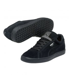 Chaussures Puma Suede Noir Classic All Black Basket