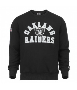 Sweat Crewneck New Era Oakland Raiders SuperScript Noir