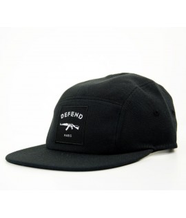 Casquette Defend Paris 5 Panel Noir AK47