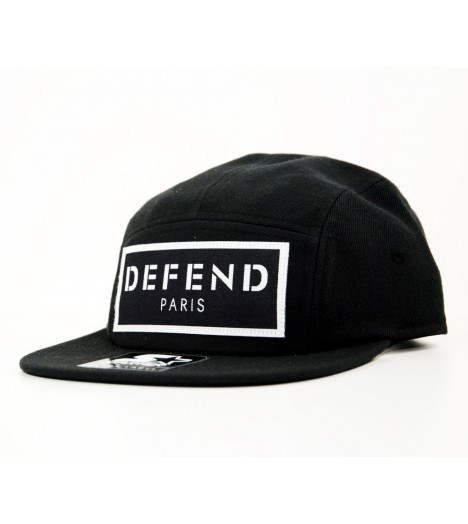 Casquette Defend Paris Patch 5 Panel Noir