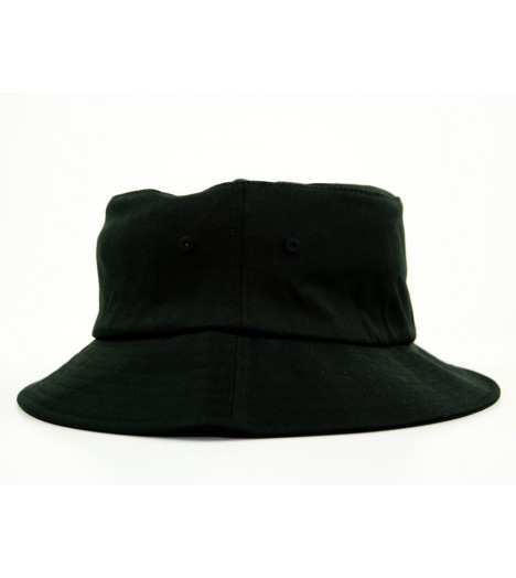 Bob Flexfit Noir Unicolore Basic Bucket Hat