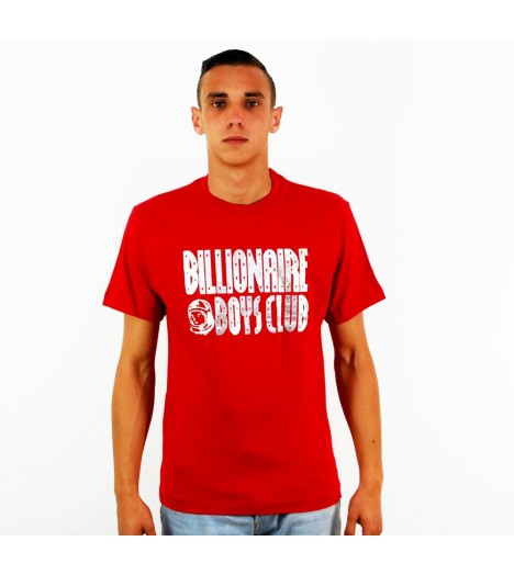 T-shirt Billionaire Boys Club Straight Logo BBC Rouge
