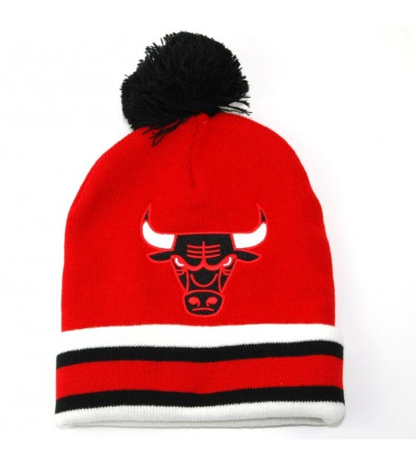Bonnet Mitchell & Ness Chicago Bulls Rouge Script Bobble KL76Z