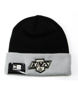 Bonnet New Era Los Angeles Kings Noir - Gris Contrast Cuff
