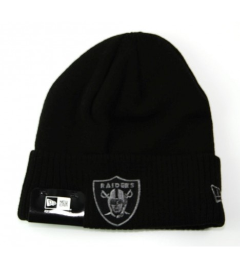 Bonnet New Era Oakland Raiders Noir Metallic Knit
