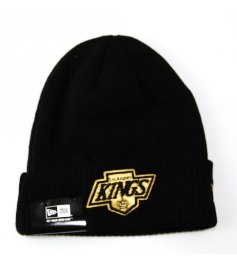 Bonnet New Era LA Kings Noir - Or Metallic Knit