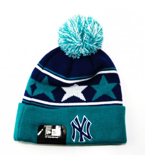 Bonnet New Era NY Yankees Pommy Star Aqua - Bleu