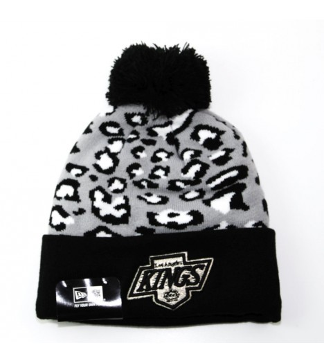Bonnet Pompon New Era Los Angeles Kings Noir - Gris Leopard 2