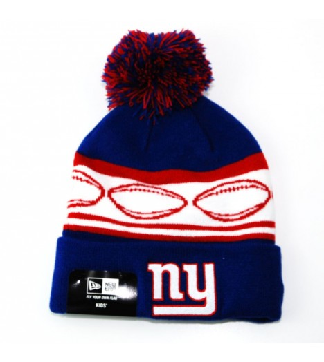 Bonnet Enfant New Era NY Giants Bleu Team Ball