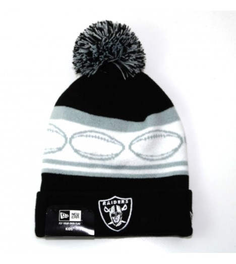 Bonnet Enfant New Era Oakland Raiders Noir Team Ball