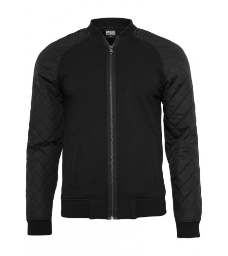 Sweat zippé Urban Classics Noir Diamond Nylon