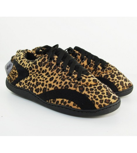 Chaussons Happy Feet Leopard All Around'z