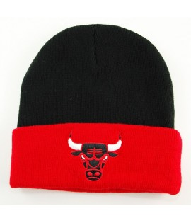 Bonnet Mitchell & Ness Chicago Bulls Noir - Rouge 2 Tone