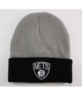 Bonnet Mitchell & Ness Brooklyn Nets Gris - Noir 2 Tone
