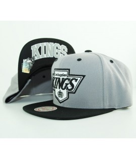 Casquette Mitchell & Ness Snapback Los Angeles Kings Gris Arch Visor