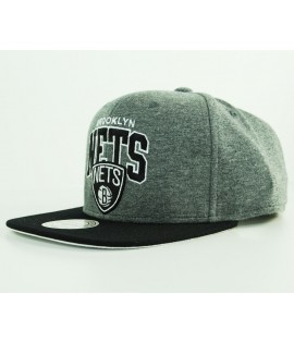 Casquette Mitchell & Ness Snapback Brooklny Nets Gris Jersi