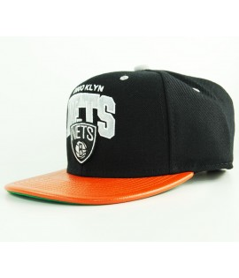 Casquette Mitchell & Ness Brooklyn Nets Noir - Orange Snapback MVP