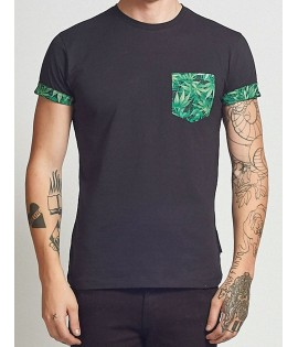 Pocket T-shirt Criminal Damage Kush Tee Noir