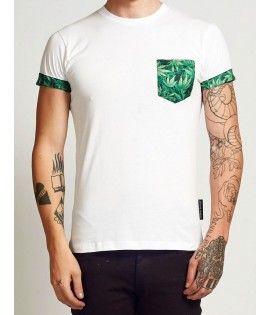 Pocket T-shirt Criminal Damage Kush Tee Blanc