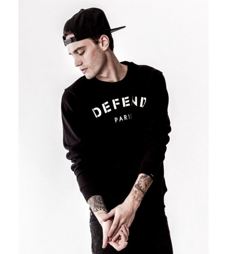 Sweat Defend Paris Noir Crewneck