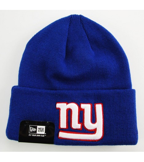 Bonnet New Era NY Giants Bleu Over Cuff