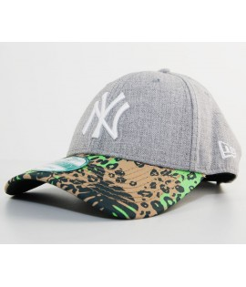 New Era 9Forty NY Yankees Peak Jungle Gris - Vert