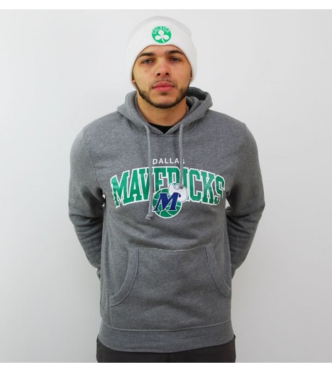 Sweat Mitchell & Ness Dallas Mavericks Gris Hoody Arch