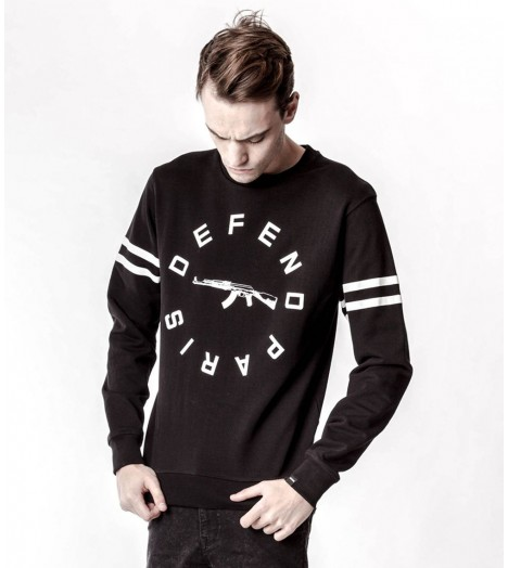 Sweat Defend Paris Strip Noir Crewneck