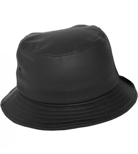 Bob Flexfit Noir Aspect Cuir Basic Bucket Hat