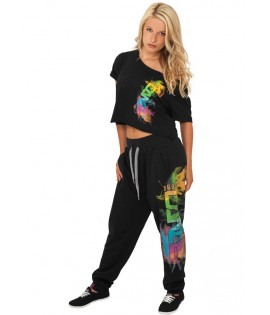 Bas de jogging URBAN DANCE Noir-Multicolore Baggy Hip Hop Danse
