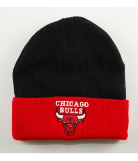 Bonnet Mitchell & Ness Chicago Bulls Noir - Rouge 2 TONE CUFF