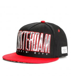 CAYLER & SONS Snapback Blazin City Noir-Rouge-Smoke+