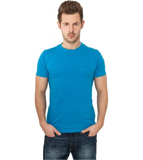 Pocket T-shirt Urban Classics Turquoise Col Rond