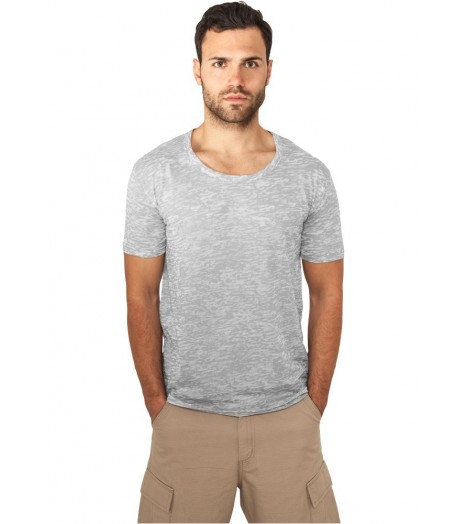 T-shirt Urban Classics Burnout Gris