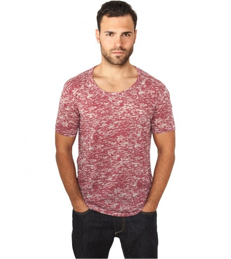 T-shirt Urban Classics Burnout Bordeaux