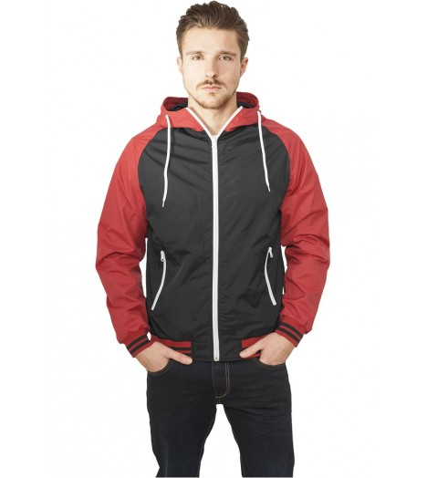 Coupe-vent Urban Classics Noir Rouge Wind Breaker