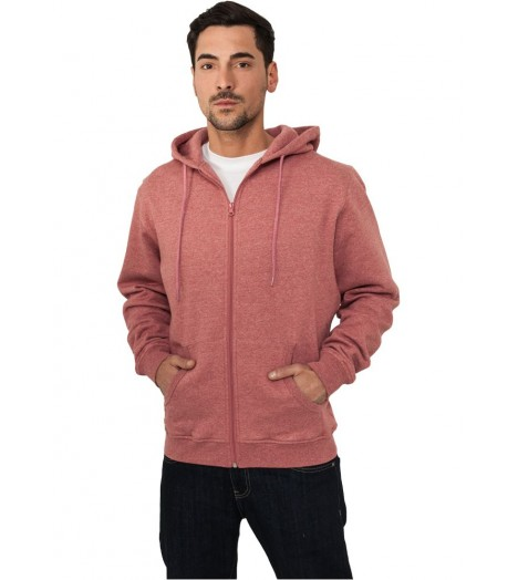 Sweat capuche Urban Classics Zip Bordeaux Chiné