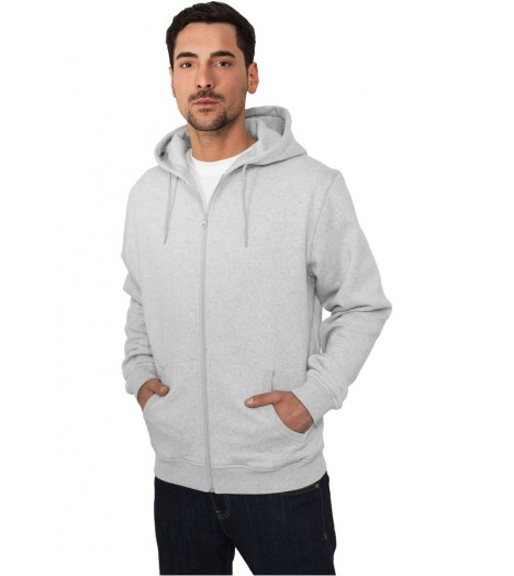 Sweat capuche Urban Classics Zip Gris Chiné