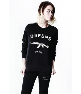 Sweat Defend Paris Femme Paris W crewneck Noir