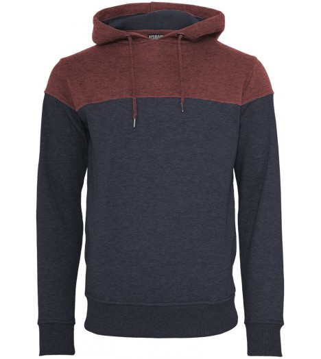 Sweat Urban Classics Navy Bordeaux Block Hoody
