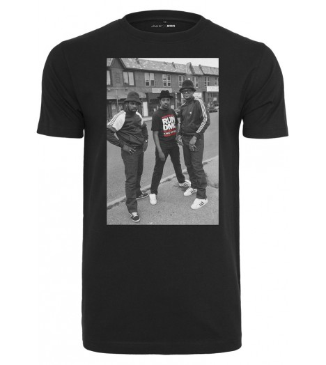 T-shirt MISTER TEE Noir Run Dmc Kinf Of Rock