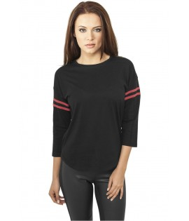 T-shirt Urban Classics Noir - Rouge Striped