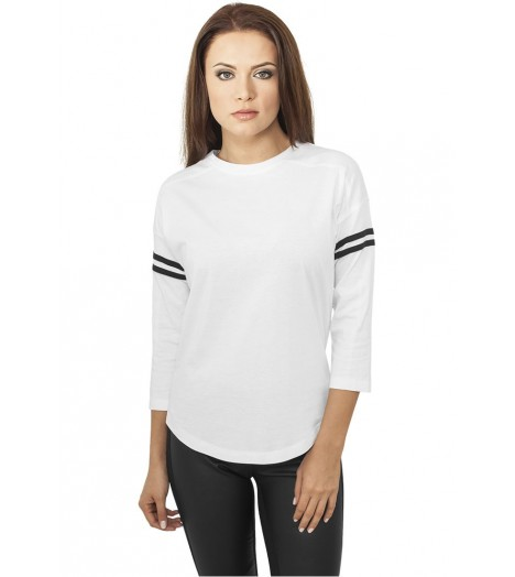 T-shirt Urban Classics Blanc - Noir Striped