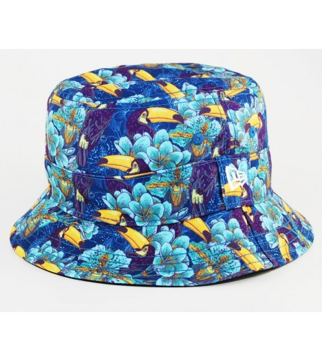Bob New Era Toucan Bleu Marine Tropical Bucket