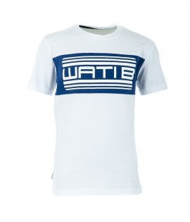 T-shirt Enfant Wati B Nigel Junior Blanc - Bleu