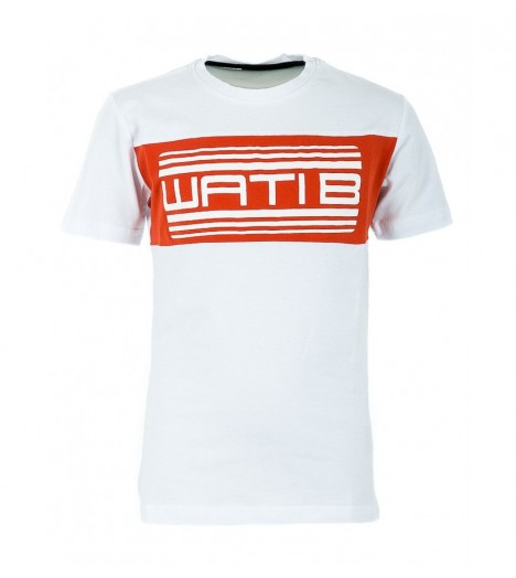 T-shirt Enfant Wati B Nigel Junior Blanc - Orange