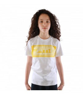 T-shirt Enfant Wati B Nigel Junior Blanc - Jaune