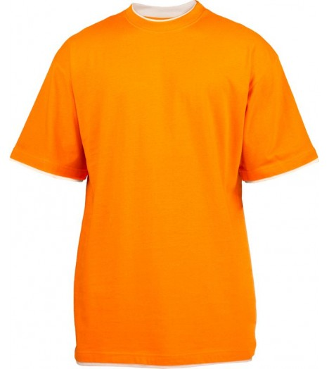 Tee-shirt extra long URBAN CLASSICS Kids Orange / Blanc