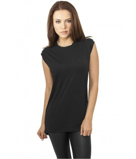 T-shirt Ladies Wide Viscon Sleeveless Urban Classics Noir